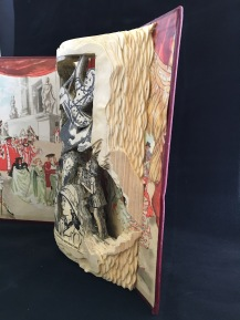 This is an experimental piece for me as I have not done a rounded book sculpture before