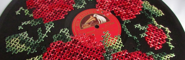 Musical Blooms Cross Stitched Record