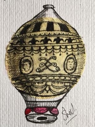 Balloon Tea Bag Art