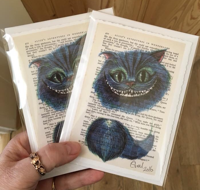 Greetings cards Cheshire Cat