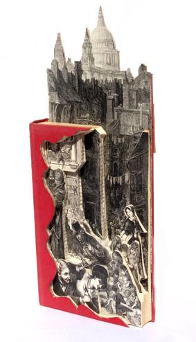Victorian Underworld Book Sculpture.